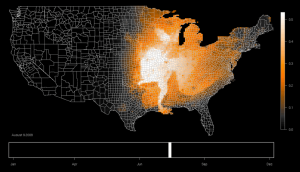 Indigo Bunting Migration Map